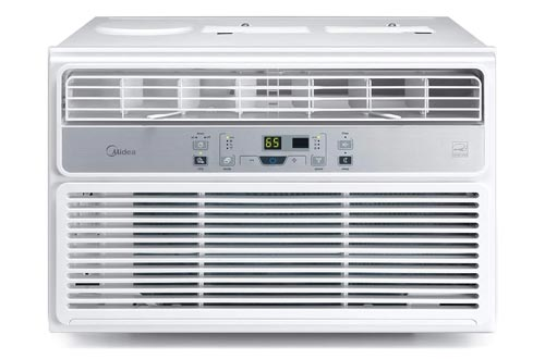 MIDEA EasyCool Window Air Conditioners - Cooling, Dehumidifier, Fan with remote control - 12,000 BTU, Rooms up to 550 Sq. Ft. (MAW12R1BWT Model)