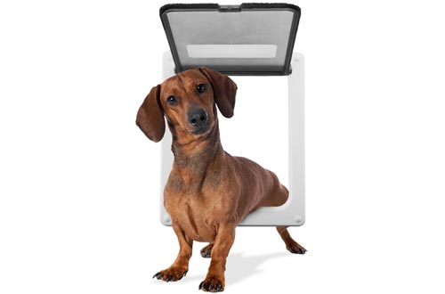 "Weebo Pets Medium Breed Locking Pet Doors - 11"" x 9"" Opening with Hard Plastic Flap"
