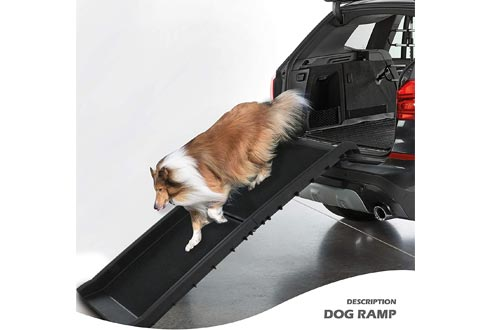 Folding Dog Ramps Large Portable Lightweight Dog and Cat Ramps Car Trunk SUV Back Seat Ladder Pet Collapsible Ramps Up to 200 lb
