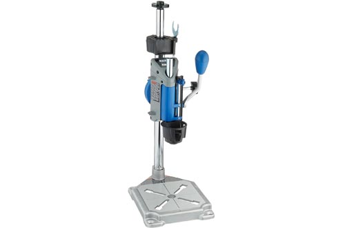 Dremel Drill Presses Rotary Tool Workstation Stand with Wrench- 220-01- Mini Portable Drill Presses- Tool Holder- 2 inch Drill Depth- Ideal for Drilling Perpendicular and Angled Holes- Table Top Drill