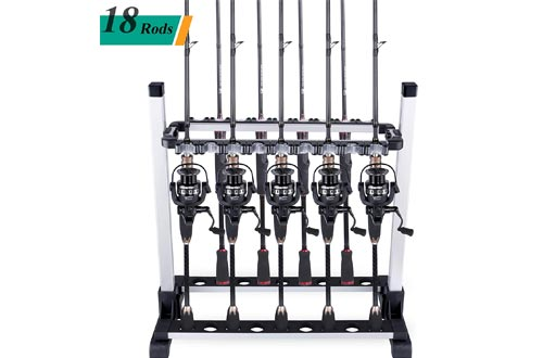 ODDSPRO Fishing Rod Racks, Fishing Rod Holder - Holds Up 6-18 Rods - for All Types of Fishing Rods and Combos