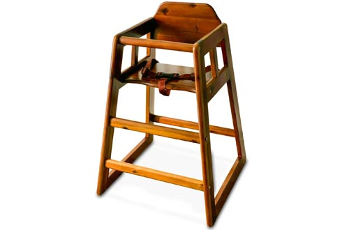 Winco CHH-104 Unassembled Wooden High Chairs, Walnut