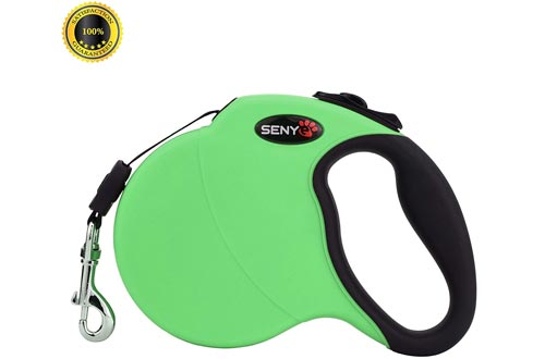 SENYE Retractable Dog Leashes,16ft Dog Traction Rope for Large Medium Small Dogs,Break & Lock System
