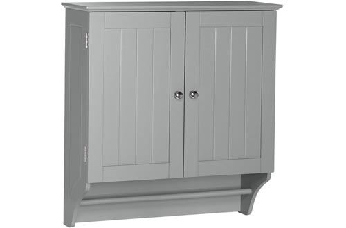 RiverRidge Ashland Collection Two-Door Wall Cabinets, Gray
