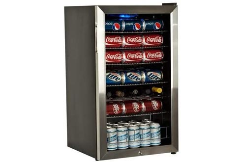 EdgeStar 103 Can and 5 Bottle Supreme Cold Beverage Coolers - Stainless Steel