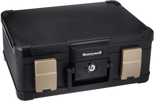 Honeywell Safes & Door Locks - 30 Minute Fire Safe Waterproof Safe Boxes Chest with Carry Handle, Medium, 1103