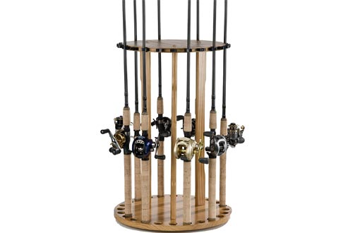 Old Cedar Outfitters Spinning Round Racks Fishing Rod Holders