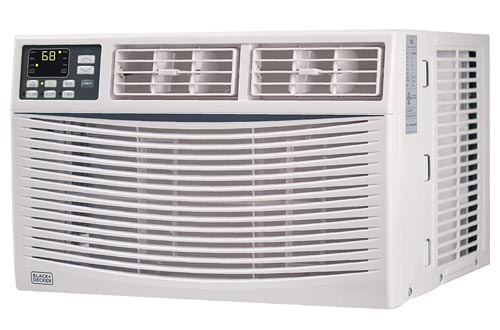 BLACK+DECKER BWAC08WT 8,000 BTU Energy Star Electronic Window Air Conditioners with Remote,White