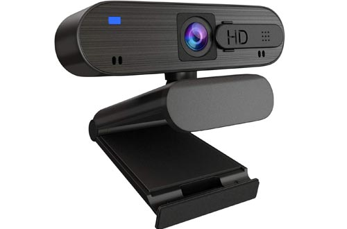 1080P HD Webcams with Privacy Cover,Auto Focus Webcams with Noise Reduction Microphone, Streaming Camera for Video Conferencing, Online Work, Home Office,YouTube, Recording,Suit for Microsoft Teams