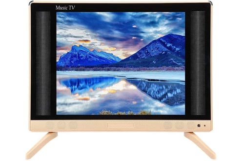 Mugast 24 Inch LCD TVs,1366x768 260cd/m2 HDMI/USB/VGA/TV/AV HD Home Television Display Screen with Stereo Sound Speaker for Traditional TVs, Set-top Box, etc(US)