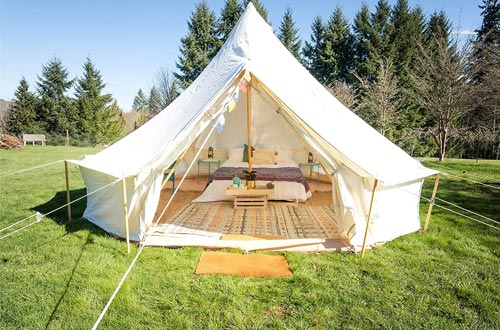 Life inTents Fernweh Bell Tents for Camping - 100% 390 GSM Weighted Cotton Canvas Camping Tents - The #1 Outdoor Waterproof Yurt Tent, Family Tents, Glamping Tents, Teepee Tents, fits Camping Stove
