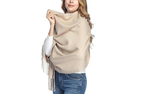 Extra Large Thick Soft Cashmere Wool Shawl Wraps for Women - PoilTreeWing Pashmina Scarfs