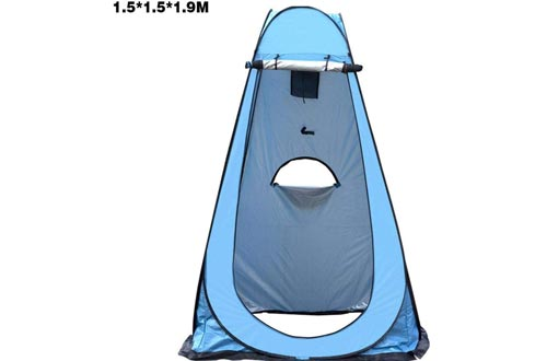 Portable Pop Up Tents, Privacy Pop-Up Pod, Privacy Tents, Instant Changing Room Camping Showers Tent Camp Toilet for Outdoors Hiking, Lightweight, Sturdy, Foldable - with Carry Bag Windbreak Rope Stake