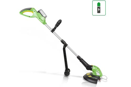 SereneLife Cordless Trimmer Weed Whacker - Electric Grass Edgers String Trimmer with 18V Rechargeable Battery, Replaceable String Cutter Blades (PSLCGM25)