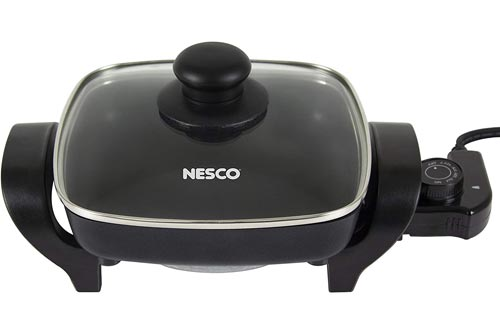 Nesco, Black, ES-08, Electric Skillet, 8 inch, 800 watts
