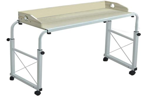 Luonita Overbed Tables with Wheels, Overbed Desk Over Bed Desk King Queen Bed Tables Overbed Laptop Tables Over Bed Tables with Wheels Shipping from CA.,NJ.