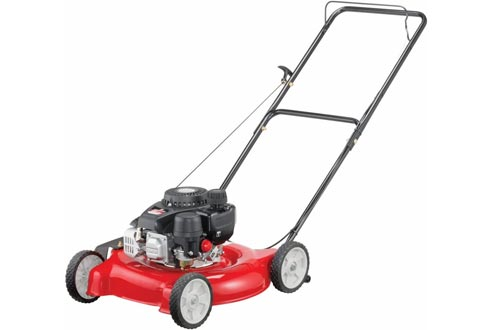 Yard Machines 132cc 20-Inch Push Gas Lawn Mowers - Mowers for Small to Medium Sized Yards - Adjustable Cutting Heights, Red