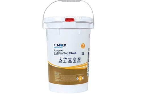 "Kem-Tek Power 99 3"" Chlorinating Tabs 50 Lbs"