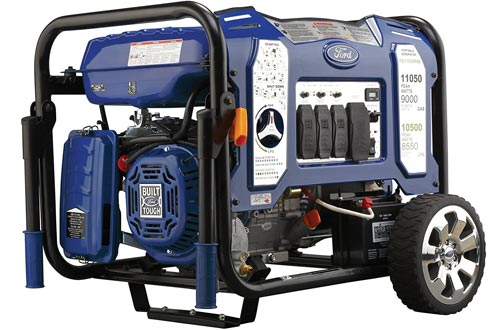 Ford 11,050W Dual Fuel Portable Generators with Switch & Go Technology and Electric Start, FG11050PBE