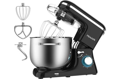 HOWORK Stand Mixers, 8.45 QT Bowl 660W Food Mixers, Multi Functional Kitchen Electric Mixers With Dough Hook, Whisk, Beater