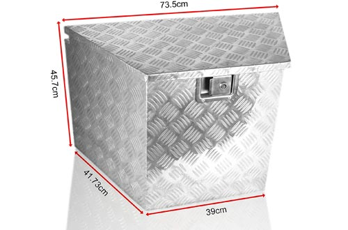 POINSETTIA Aluminum Tool Boxes Transport Storage for Truck Trailer Tongue Boxes Drawbar Box 39x73.5x45.7cm, Silver