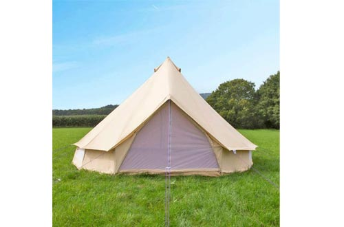 Outdoor Cotton Canvas Outdoor Camping Bell Tents for 4 Seasons