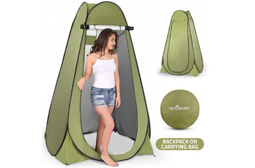 Pop Up Privacy Tent – Instant Portable Outdoor Showers Tent, Camp Toilet, Changing Room, Rain Shelter with Window – for Camping and Beach – Easy Set Up, Foldable with Carry Bag – Lightweight and Sturdy