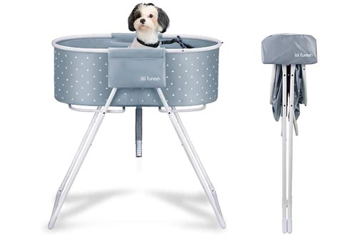 Furesh Elevated Folding Dog Bath Tubs and Wash Station for Bathing, Shower, and Grooming, Foldable and Portable, Indoor and Outdoor, Perfect for Small and Medium Size Dogs, Cats and Other Pet