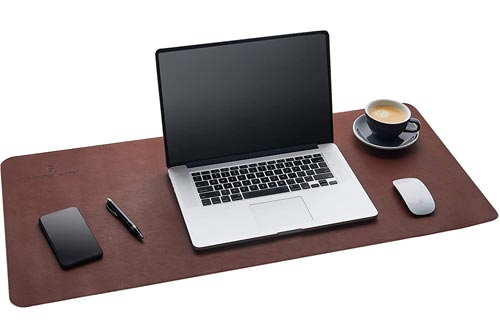Gallaway Leather Desk Pads - (36 X 17 Inch) Desk Mat Accessories for Women Men Desk Protector Extended Mouse Pads for Office/Home Accessories Writing Pads for Top of Desks (Dark Brown)