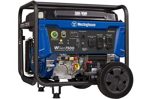 Westinghouse WGen7500 Portable Generators with Remote Electric Start - 7500 Rated Watts & 9500 Peak Watts - Gas Powered - CARB Compliant - Transfer Switch Ready