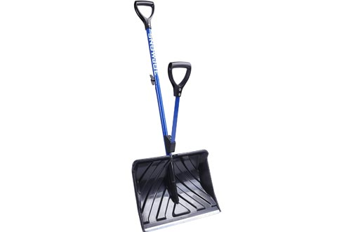 Snow Joe SJ-SHLV01 Shovelution Strain-Reducing Snow Shovels | 18-Inch | Spring Assisted Handle
