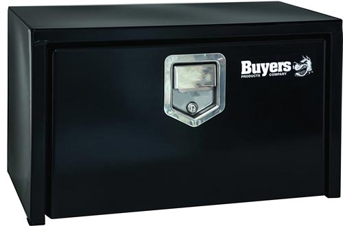 Buyers Products Black Steel Underbody Truck Boxes w/ Paddle Latch (14x12x24 Inch)