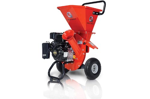 """GreatCircleUSA Wood Chippers Shredder Mulcher Heavy Duty 212cc Gas Powered 3 in 1 Multi-Function 3"""" Inch Max Wood Diameter Capacity EPA/CARB Certified Aids in Fire Prevention & Building a Firebreak"""