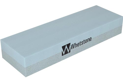 Whetstone Cutlery 20-10960 Knife Sharpening Stones-Dual Sided 400/1000 Grit Water Stones-Sharpener and Polishing Tool for Kitchen, Hunting and Pocket Knives or Blades by Whetstone