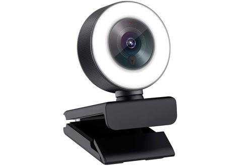 Angetube Streaming 1080P HD Webcams Built in Adjustable Ring Light and Mic. Advanced autofocus AF Web Camera for Google Meet Xbox Gamer Facebook YouTube Streamer