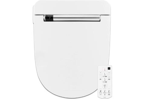 VOVO VB4100SR Electronic Bidet Toilet Seats,Round,White,LED Nightlight,Deodorization,Eco Power Save,Self Cleaning Full Stainless Nozzle,Heated Seats,Warm Dry and Water,Made in Korea