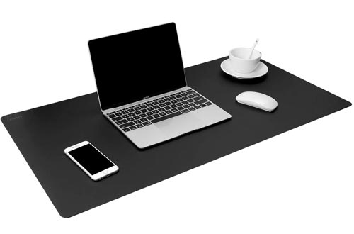 """TOWWI Leather Desk Pads Protector 36""""x17"""" Desk Blotter Pads, Waterproof Writing Desk Accessories"""