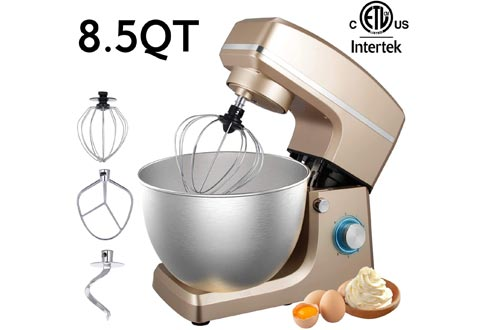 Stand Mixers, Sincalong 8.5QT 6 Speed Control Electric Stand Mixers with Stainless Steel Mixing Bowl and 3 Attachments, Food Mixers for Mix, Blend, Whip and Knead