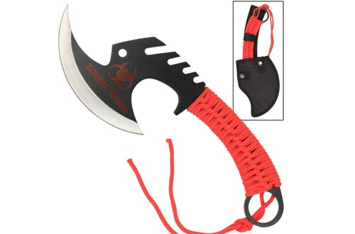 Armory Replicas Zombie Killer Skullsplitter Throwing Axes - Red