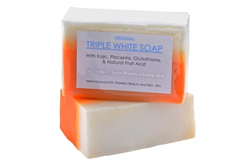3 Bars of Kojic Acid, Placenta, Glutathione Triple Whitening/Bleaching Soaps