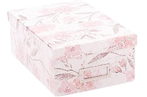 American Crafts Photo Boxes Floral Geo Silver Foil Die Cuts with a View