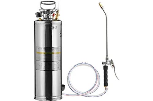 CLICIC Stainless Steel Sprayers Professional with Backpack (2.5 Gallon)
