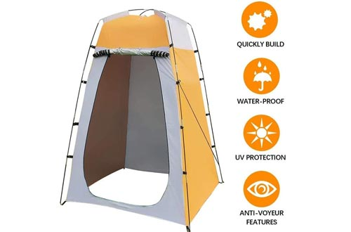 juman Portable Privacy Showers Tent, Removable Dressing Room Tent Waterproof Pop Up Toilet Tent with Zippered Door for Outdoor Camping Beach Travelling