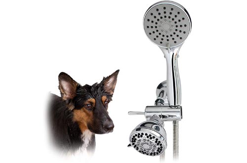 SmarterFresh Pet Showers Sprayer Set, Complete Pet Wash Hand Held Showers Attachment for Home Dog Washing Station