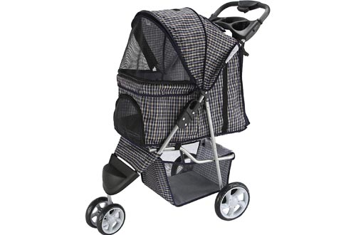 Paws & Pals Dog Strollers - Pet Strollers for Small Medium Dogs & Cats - 3 Wheeler Elite Jogger - Carriages Best for Cat & Large Puppy