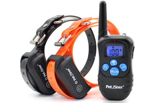 Petrainer Shock Collars for Dogs - Waterproof Rechargeable Dog Training E-Collars with 3 Safe Correction Remote Training Modes, Shock, Vibration, Beep for Dogs Small, Medium, Large