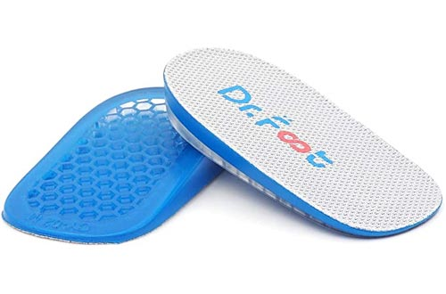 Dr. Foot's Height Increase Insoles, Heel Cushion Inserts, Heel Lift Inserts for Leg Length Discrepancies