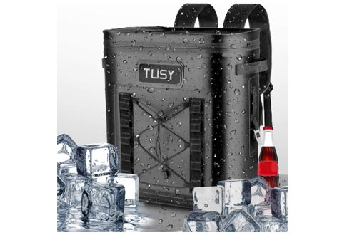 TUSY Best 20 Cans Soft Coolers Backpack-Portable Waterproof Leak-Proof Insulated Bag & Keep Cold 48 H for Picnics, Camping, Hiking or Beach