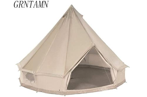 GRNTAMN Four Season Cotton Canvas Bell Tents Waterproof Winter Yurt Tents with Stove Jacket