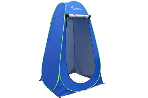 Sportneer Pop Up Camping Showers Tent, Portable Dressing Changing Room Privacy Shelter Tents for Outdoor Camping Beach Toilet and Indoor Photo Shoot with Carrying Bag, 6.25 ft Tall